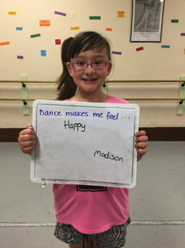 """...happy."" -Madison"