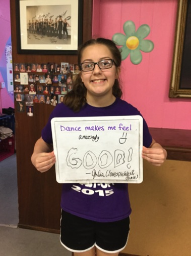 """...amazingly good!"" -Julia (loves pickles & dance)"