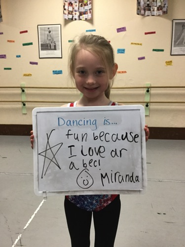 """…fun because I like arabesque!"" -Miranda"